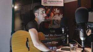 Barry Jay Hughes live on highland Radio, 2016